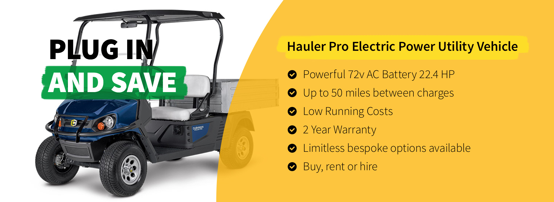 Hauler Pro Electric Power Utility Vehicle