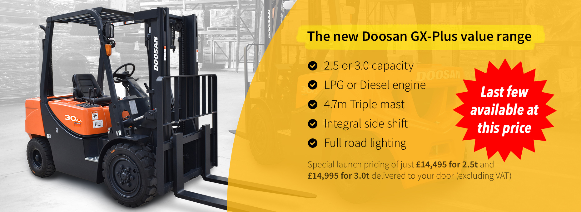 The new Doosan GX-Plus value range