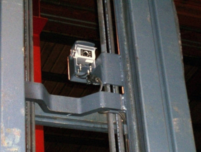 Camera mounting well protected - less risk of damage