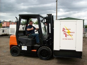 AbilityHandling supplied used 3 ton doosan diesel forklift gets the thumbs up from Power Command.