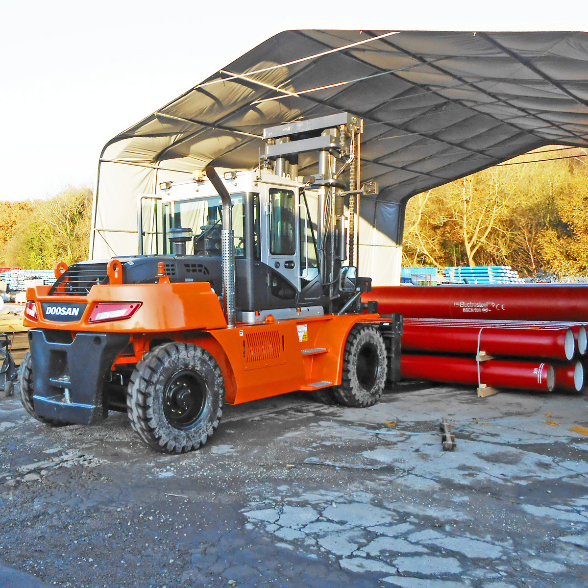 Doosan-D140-on-site