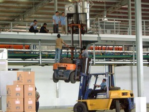 Forklifts are for lifting materials, not people!