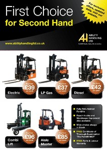 Used and Refurbished Counterbalance Forklifts, LP Gas, Electric, Diesel, Combilift, Aisle-Master, Reach and more.