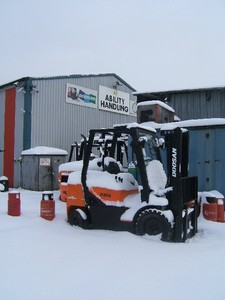 We are snowed under with Doosan forklifts!
